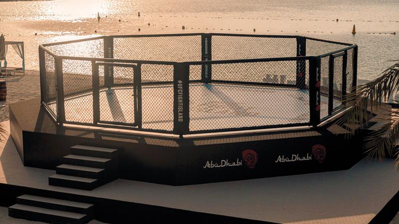 حلبة نزال «يو إف سي» الأشهر ستعود إلى شاطئ أبوظبي.  من المصدر