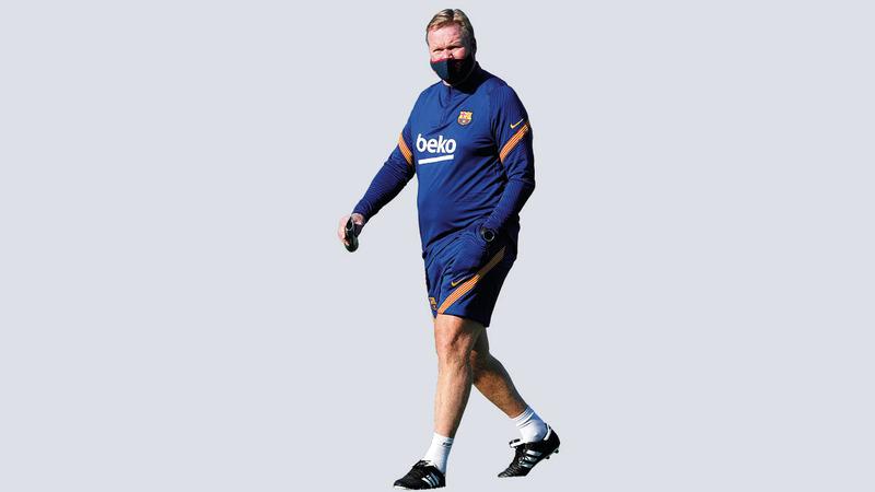 مدرب برشلونة الجديد كومان.  إي.بي.إيه