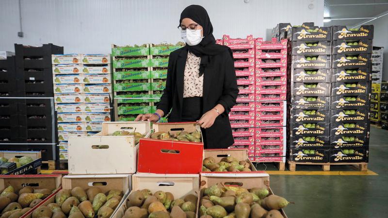 الزهراء في متجرها بمدريد. من المصدر