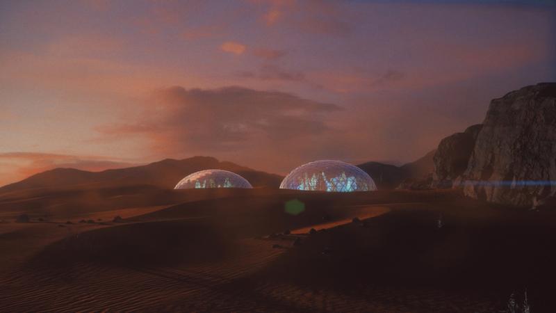 مشروع شوفي الفائز يُعنى بتقديم معالجة رقمية لبيئات مستعمرة فضائية على الأرض. من المصدر