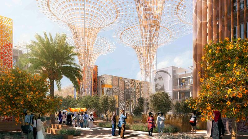 «إكسبو 2020 دبي» يعد مكاناً تستكشف فيه الدول والشعوب حلولاً لتحديات مثل تأثير المناخ والاستدامة.  أرشيفية