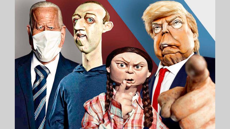شخصيات سياسية من بينها ترامب وبايدن استعرضتها النسخة البريطانية من المسلسل.  عن المصدر