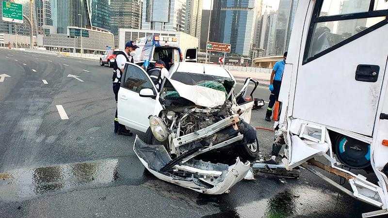 شركة التأمين مُلزمة بالتعويض عن أي أضرار مادية أو جسمانية يتعرض لها المتضرر من الحادث.  أرشيفية