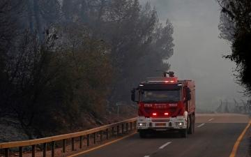 الصورة: إجلاء 5000 شخص بسبب حريق كبير في شمال إسرائيل