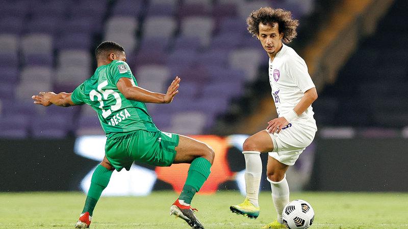 محمد عبدالرحمن سجل هدف العين الأول في المباراة. من المصدر