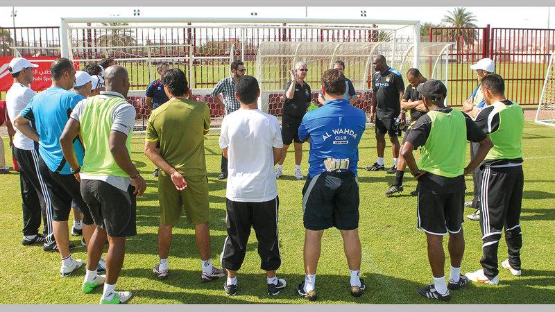من الدورات التدريبية في اتحاد كرة القدم. ■من المصدر