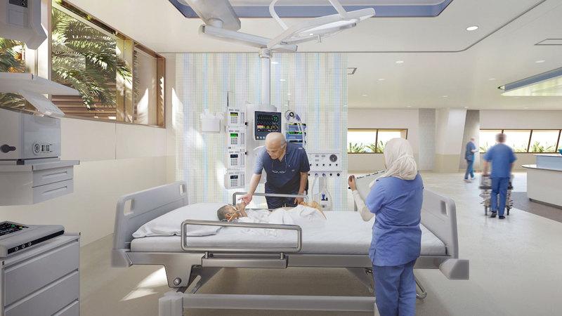 المركز سيستقبل المرضى بطاقة استیعابیة تصل إلى 120 ألف مریض سنوياً. من المصدر