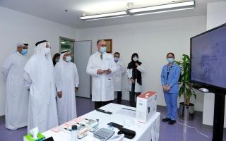"""الصورة: """"هيئة الصحة"""" في دبي تستحدث نظاماً ذكياً لرعاية مرضى السكري عن بُعد"""