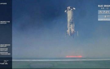 الصورة: تجربة ناجحة جديدة لصاروخ «بلو أوريغين» المعد للسياحة الفضائية