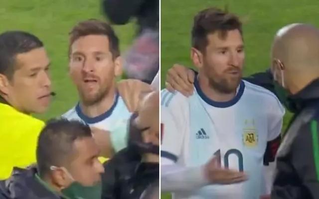 الصورة: بالفيديو.. شجار وألفاظ نابية من ميسي في مباراة الأرجنتين مع بوليفيا