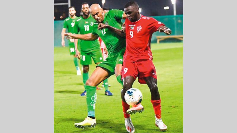 فريق الإمارات يتطلع للتأهل إلى دوري المحترفين. من المصدر