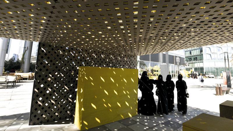 فعاليات «الأسبوع» يحتضنها حي دبي للتصميم. أرشيفية