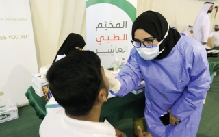 الصورة: «خيرية الشارقة» تداوي 7206 من مرضى العيون