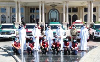 الصورة: 18 مركبة إسعاف من «الحبتور» لـ «إسعاف دبي»