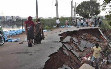 الصورة: الفيضانات تقتل 40 شخصاً في الهند