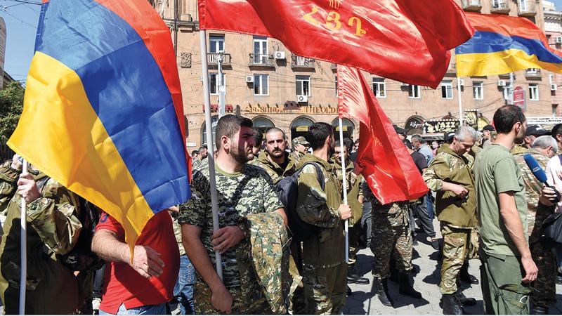 الأرمن تعرضوا لخسائر كبيرة جراء القصف الأذري. أ.ب