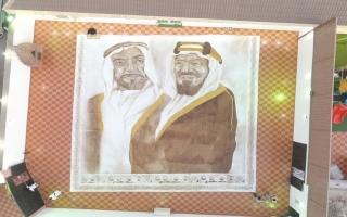 الصورة: بالفيديو.. سعودية تدخل «غينيس» بأكبر لوحة من القهوة