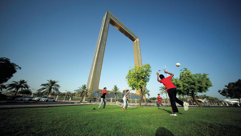 «برواز دبي» أحد أبرز المعالم السياحية في الإمارة.رويترز