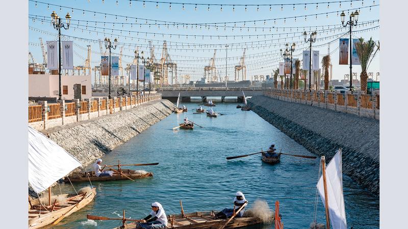 طول قناة الوادي المائية 700 متر وعرضها خمسة أمتار. من المصدر