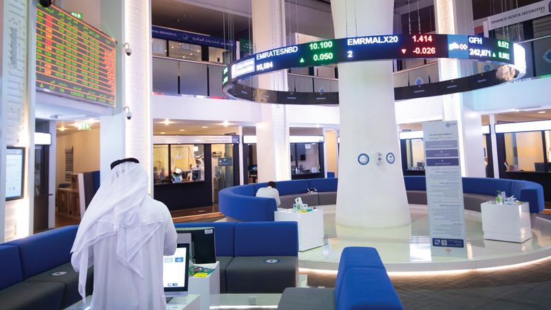 سوق دبي المالي شهد تداول 146 مليون سهم بـ103 ملايين درهم. تصوير: أحمد عرديتي