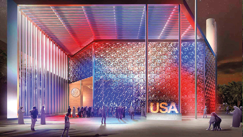 جناح الولايات المتحدة الأميركية في «إكسبو 2020 دبي» يستعد لتقديم فعاليات مميزة.   من المصدر