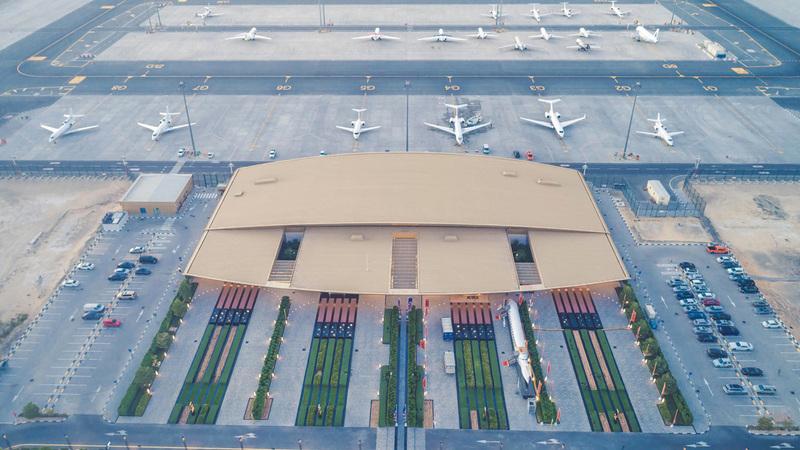 تتم خدمة «مبنى الطيران الخاص» من قبل 3 مشغلين مع تطبيق معايير التعقيم.  من المصدر