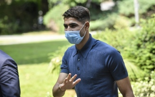 الصورة: المغربي أشرف حكيمي سابع لاعب في إنتر ميلان يصاب بكورونا