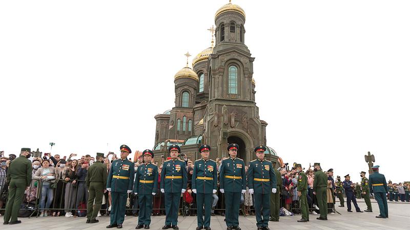 يُعد المبنى رمزاً قومياً للكثير من الروس.   أرشيفية