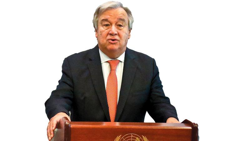 أنطونيو غوتيريس: «مجلس الأمن انضم إلى الدعوة، وهناك حاجة إلى تكثيف الجهود».