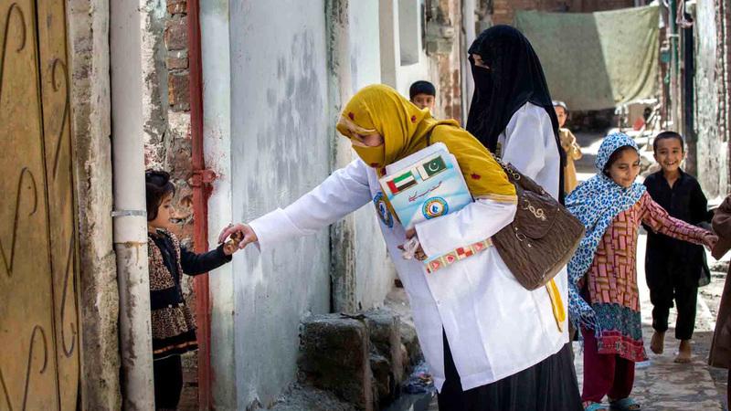 مبادرة استئصال مرض شلل الأطفال حققت تحالفات إنسانية وشراكات استراتيجية. من المصدر