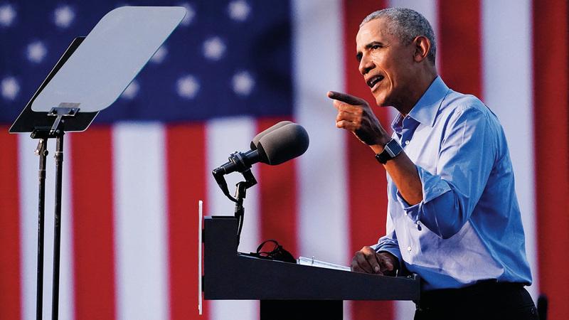 توقع نظام المفاتيح إعادة انتخاب أوباما قبل فترة طويلة من موعد انتخابات الفترة الثانية. أ.ب