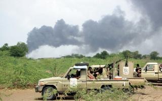 الصورة: إفشال هجمات حوثية في 17 محوراً قتالياً بمحيط مأرب