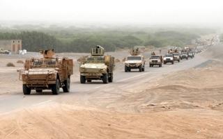 الصورة: الجيش اليمني يسيطر على أجزاء من الطريق الدولي بين صعدة والجوف