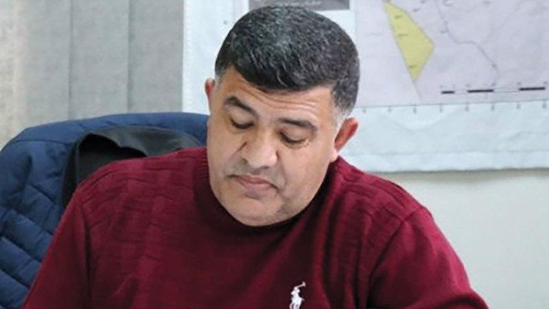 مسؤول ملف الاستيطان شمال الضفة الغربية غسان دغلس.  الإمارات اليوم
