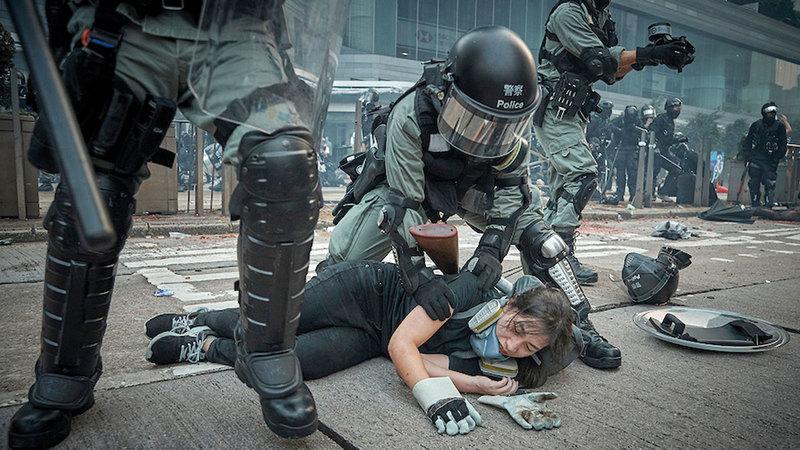 صورة «احتجاجات هونغ كونغ» لكيران رايدلي. من المصدر