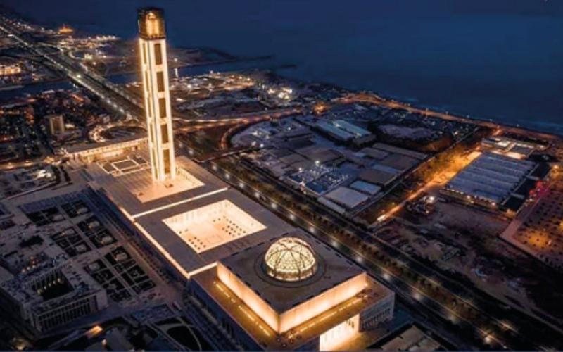 الصورة: (بالغرافيك): جامع الجزائر.. ثالث أكبر مسجد في العالم