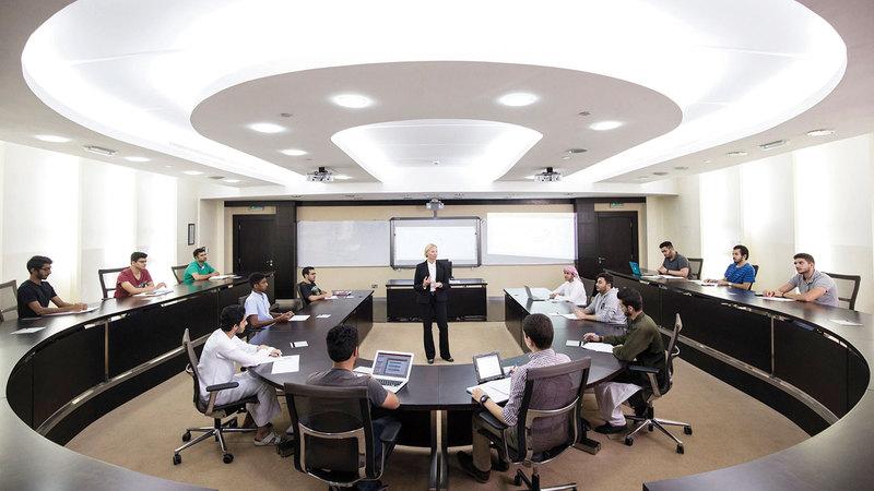 الجامعات الإماراتية باتت مركزاً إقليمياً وعالمياً للتعليم العالي. ■ من المصدر