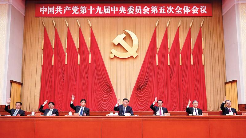 الرئيس الصيني دعا العالم إلى التكاتف لدعم قيم السلام والتنمية والعدالة والديمقراطية والحرية. إي.بي.إيه
