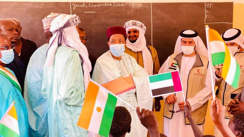 مسؤولون في النيجر أشادوا بدور دولة الإمارات التنموي والإنساني.   من المصدر