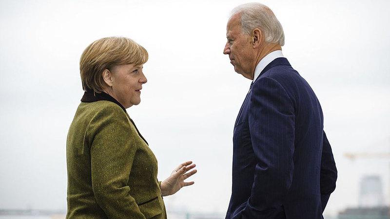 بايدن وميركل.. حوار هادئ تعزيزاً للتفاهم الأميركي الأوروبي. أرشيفية