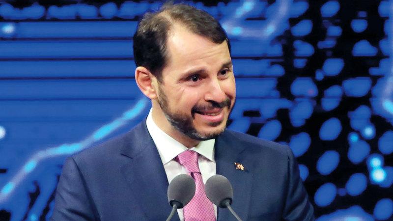وزير المالية والخزانة المستقيل براءت ألبيرق. ا.ف.ب