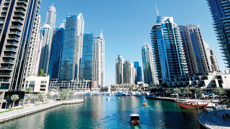 منطقة «مرسى دبي» حلّت في المرتبة الأولى من حيث عدد الاستثمارات العقارية خلال 2019. أرشيفية
