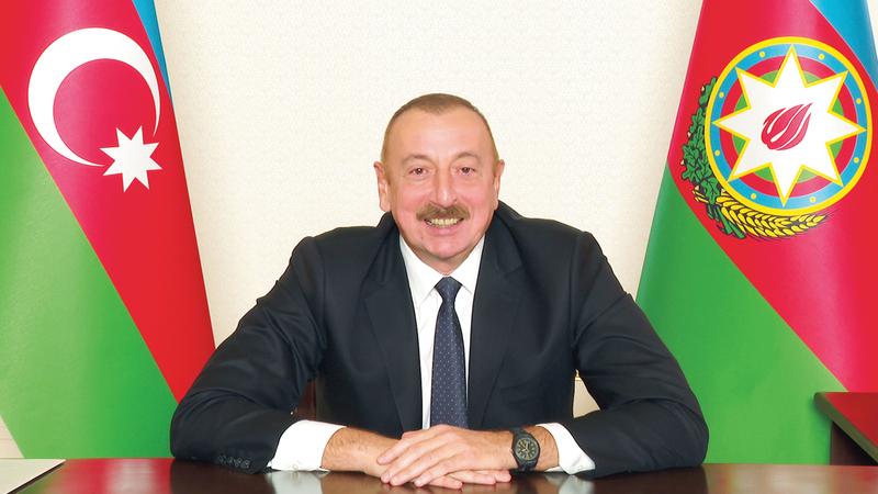 علييف أعلن بابتهاج أن الاتفاق يمثل «استسلام» يريفان.   يو.بي.آي