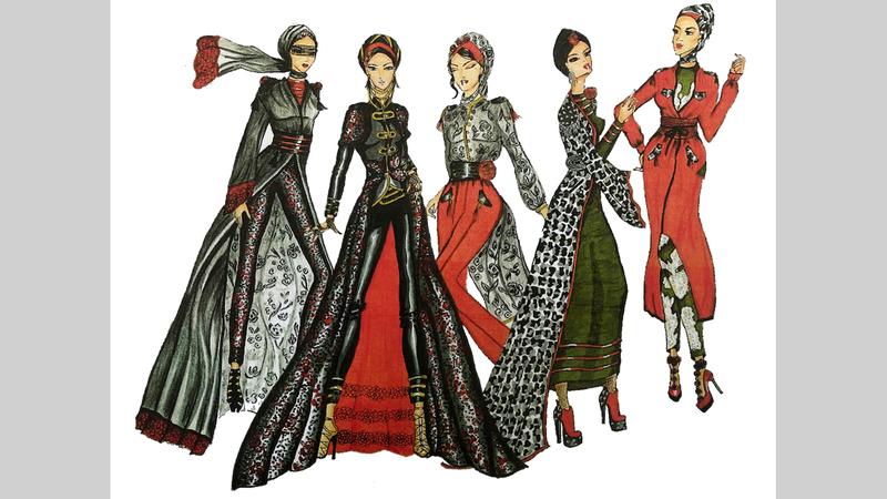حملة «عبايتك ستايلك» تشارك فيها مجموعة من الأسماء الإماراتية الرائدة في عالم الأزياء.  الإمارات اليوم