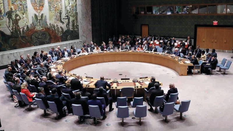 منذ بدء تفشي وباء «كوفيد-19» عقد مجلس الأمن عدداً قليلاً من الاجتماعات المكرسة لمكافحته.   أرشيفية