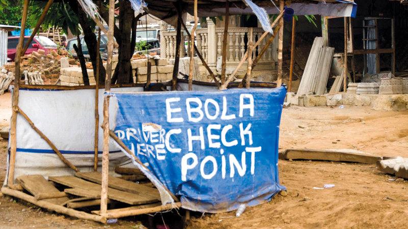نقطة للتطعيم ضد وباء «إيبولا» في الكونغو.  أرشيفية