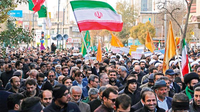 تظاهرات إيران تصاعدت على الرغم من قطع الإنترنت.   أرشيفية