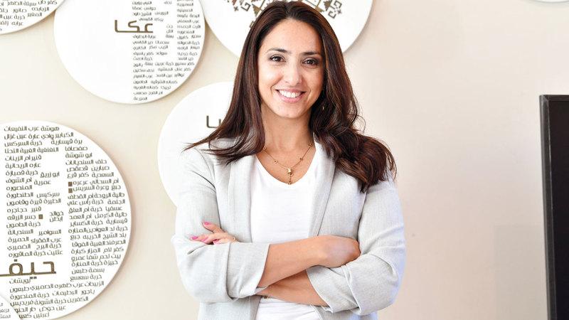 المدير الإقليمي لآرت دبي هالا خياط.  تصوير: مصطفى قاسمي