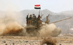 الصورة: الجيش اليمني يحرر 7 مواقع استراتيجية بالجوف