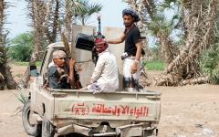الصورة: مقاتلات التحالف تدمر تعزيزات «حوثية» في مأرب